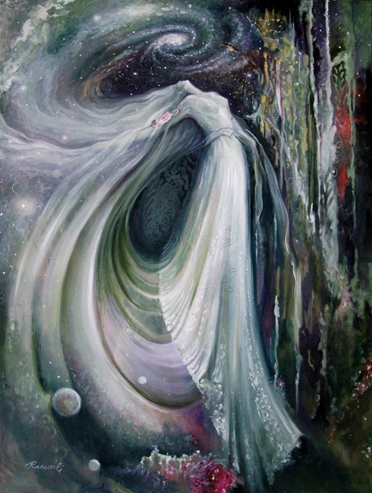 """""""In my dreams, I never have an age."""" ~ Madeleine L'Engle (painting by Rassouli)."""