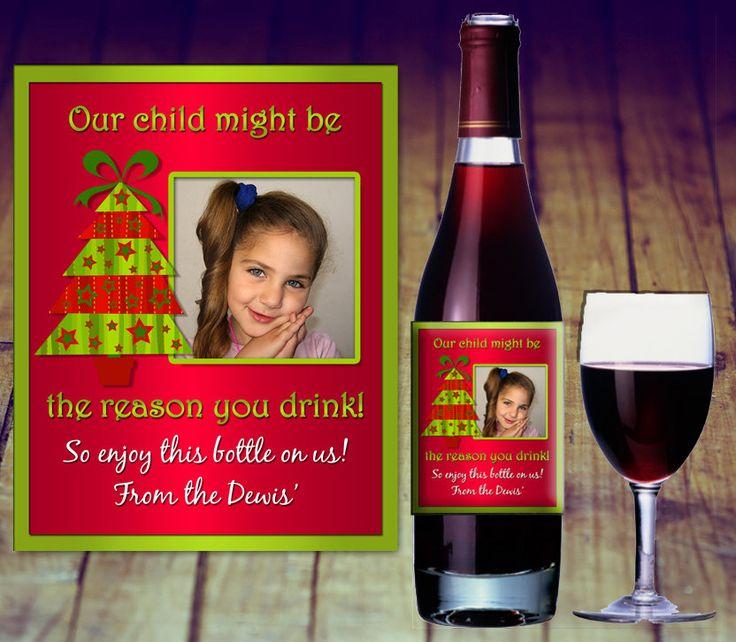 Teacher Christmas Gift, Teacher Wine Bottle Label, Teacher Wine Bottle Sticker, Personalized Teacher, Teacher Wine Gift, Teacher Thank You by LittlePrintsOttawa on Etsy