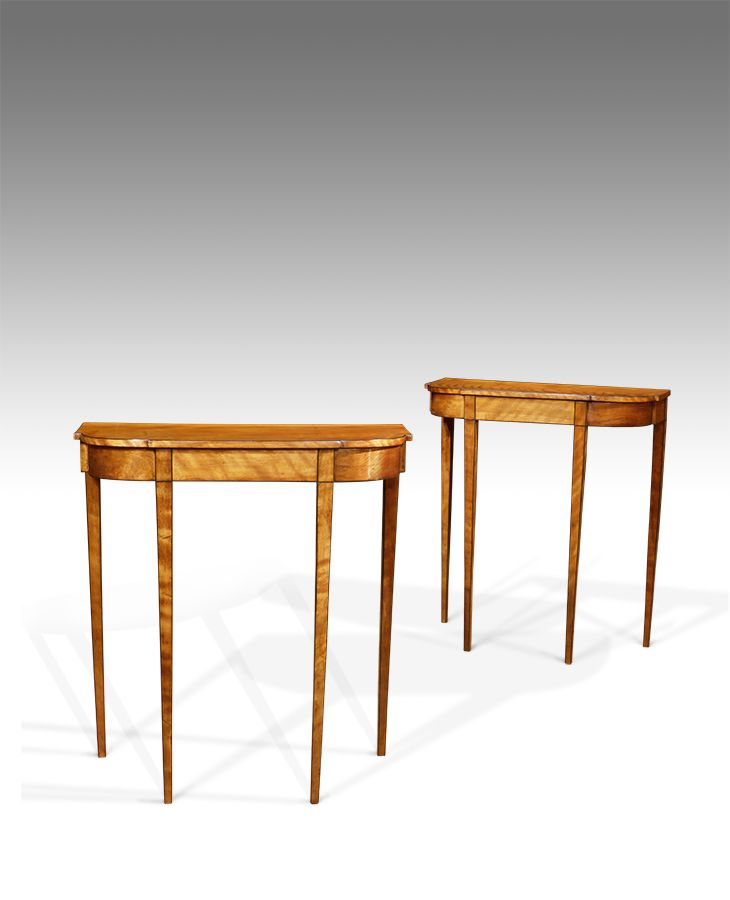 Pair Of Antique Console Tables With