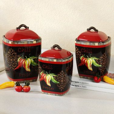 508 Best Kitchen Canisters Images On Pinterest
