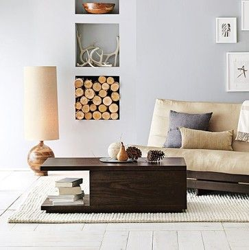 Sliding Top Coffee Table Modern Coffee Tables West Elm