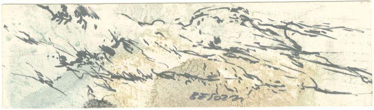 E. Besozzi pitt. s.d. (1957) Montagne china e tempera su cartoncinoc m. 7x12,3 arc 523