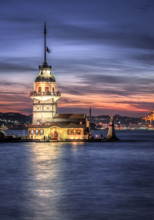 **Fading Light** by Sean Yan on 500px #Maiden's_Tower #istanbul #turkey