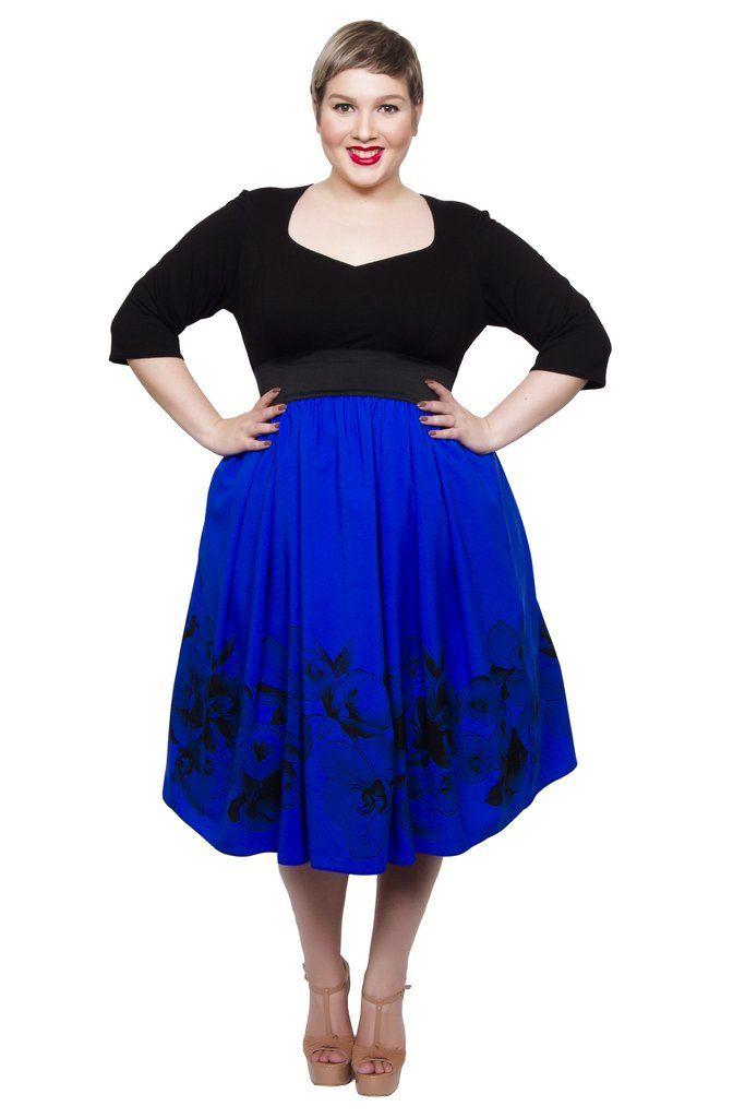 Sweetheart 2-In-1 Dress (Cobalt) - scarlettandjo  - 1