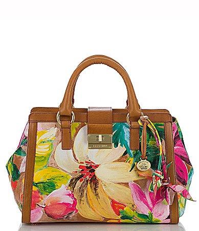 Brahmin Pink Tropical Fl Collection Annabelle Rose Satchel Bag Dillards My Style Pinterest Handbags And Purses