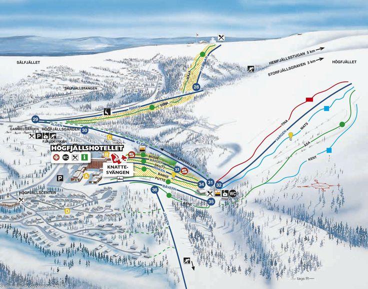 #Sälen #Högfjället Piste Map ➽ See high resolution at http://www.skiferietips.dk/sverige/salen/pistekort