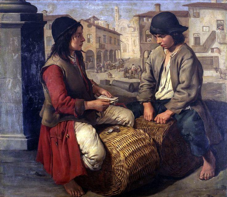 "artiebagagli: "" Giacomo Ceruti (said Pitocchetto) - Two boys playing on baskets """