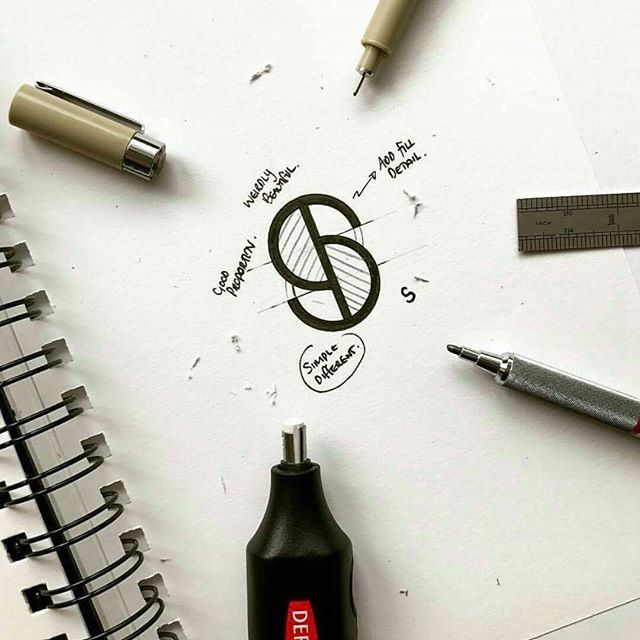 a subtle look at the way graphic designers go about their work. go check out @logoawesome for some suave final designs! Follow us for up and coming artists 😊😊 DM to be featured! 👌👌