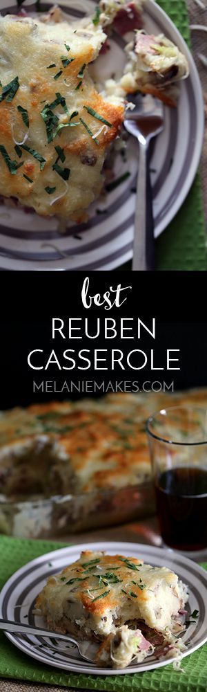 This hearty recipe can feed a crowd and is without a doubt the Best Reuben Casserole. Corned beef and cabbage are sauteed in dark beer and topped with a homemade thousand island dressing before being sandwiched between two thick layers of mashed potatoes speckled with Swiss cheese.