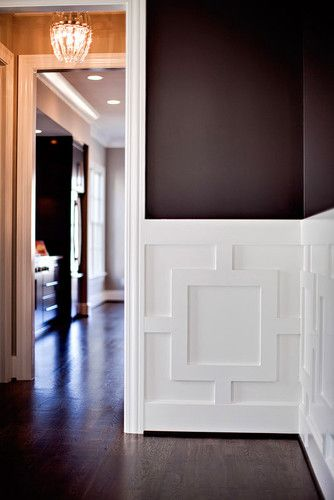 Wainscoating - beautiful paired with dark paint
