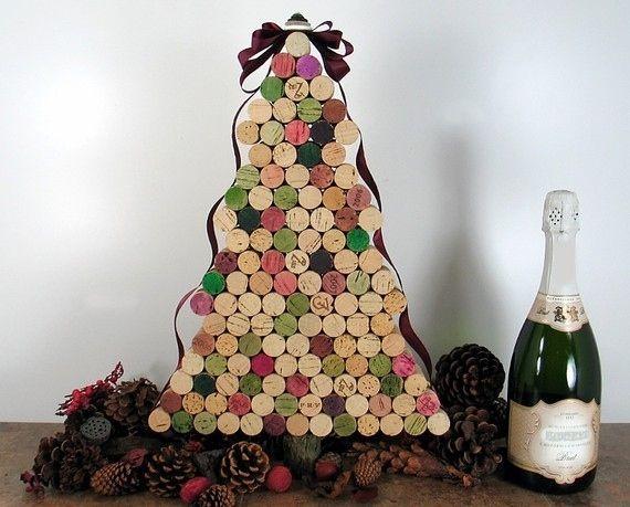 Glue together wine corks to form a tree.