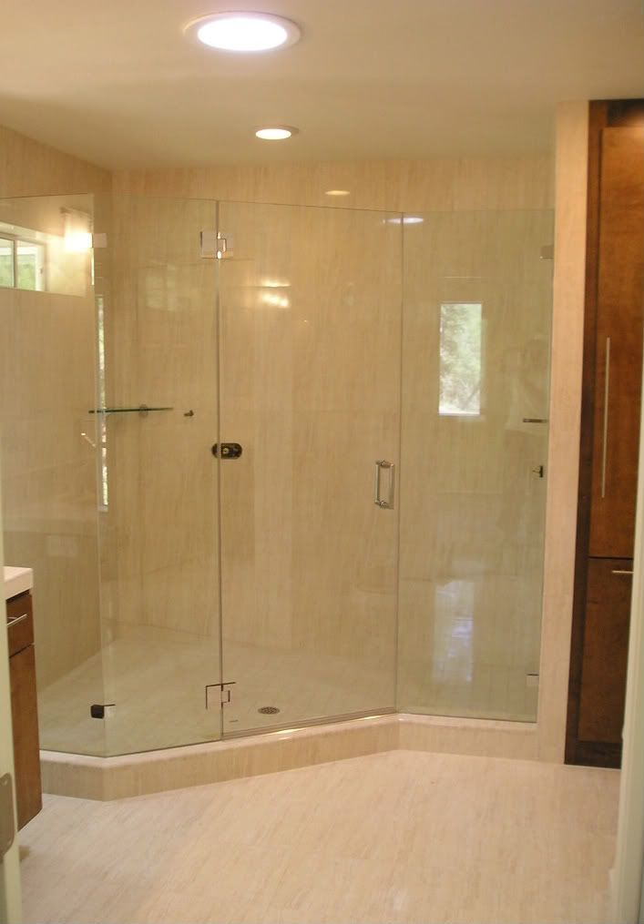 156 best images about bathrooms on pinterest washers for Showers without glass