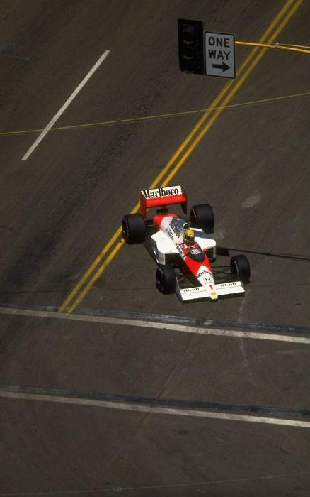 Ayrton Senna in a McLaren MP4-5, US Grand Prix, Phoenix, 1989