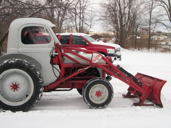 Old Ford 8n or 9n with custom cab off an  old pickup
