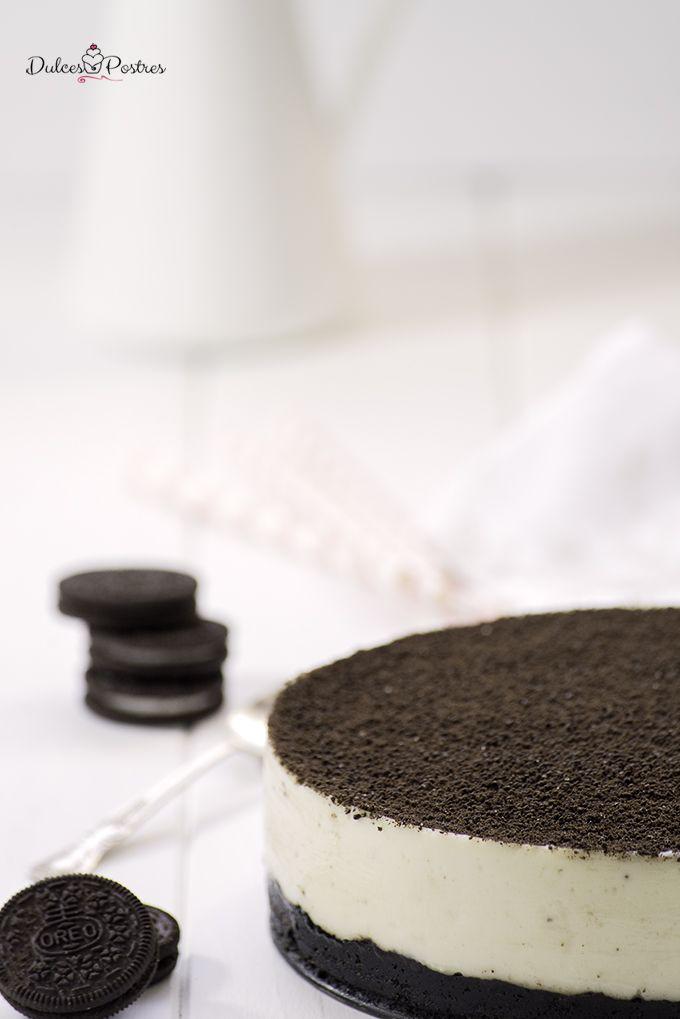 Tarta de Oreo - Dulcespostres.com #cheesecake de Oreo #tartadeoreo