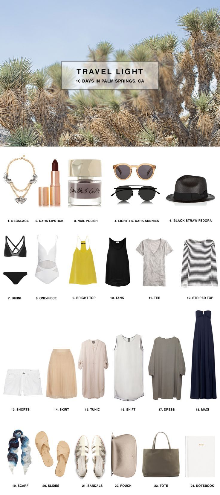 Pack in a carry-on for 10 Days in Palm Springs, California