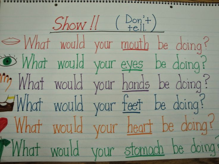 how to show not tell in creative writing