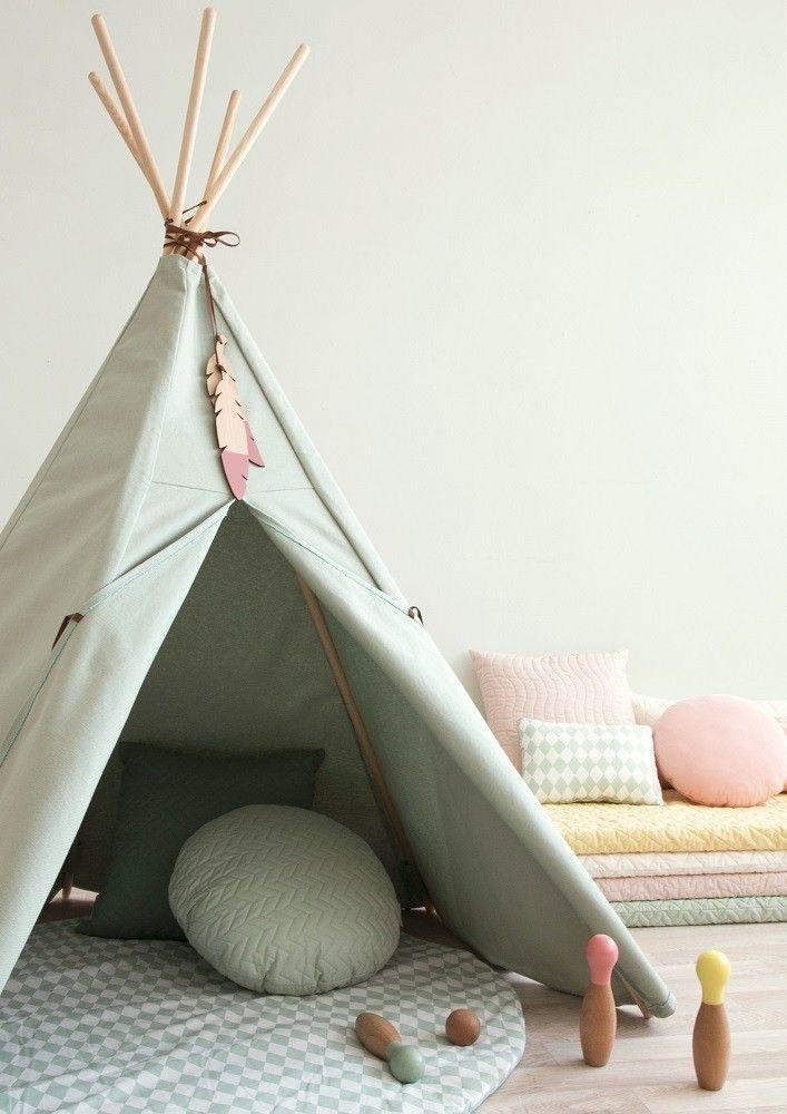 Nobodinoz Pure tipi tent provence green   PSikhouvanjou