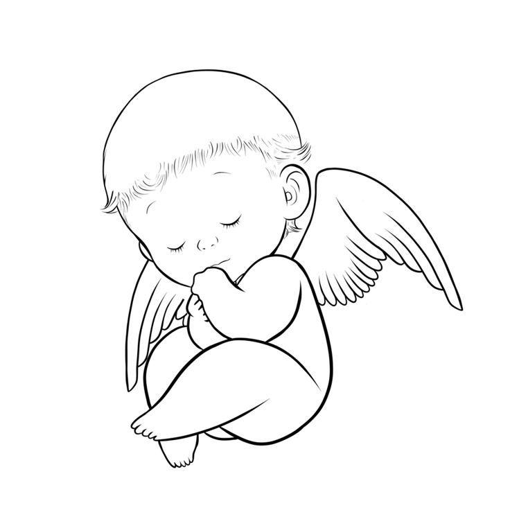 Angelitos Tatuaje De Bebe Angel Silueta De Angel Angelito Bebe