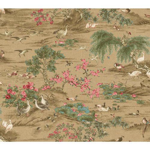 Legacy Fragrant Garden Scenic Brown Wallpaper