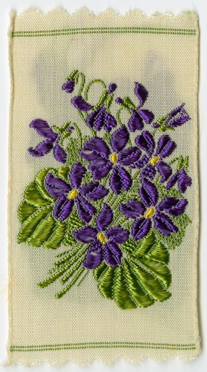 Violet (Modesty, Faithfulness). Kensitas flowers (circa 1932-1938). Image and text courtesy NYPL Digital Gallery.