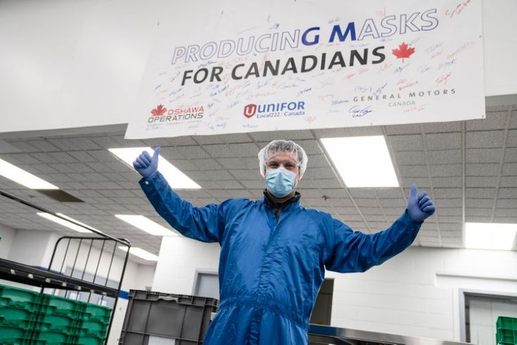 Gm signs contract with ottawa to produce 10 million masks