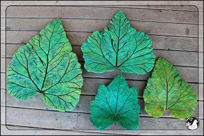 Ridgetop Ramblings: 31 Days: DIY Cement Leaves