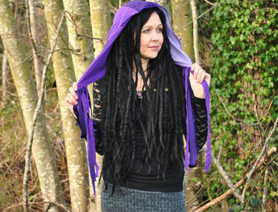 Festival Hood, Gypsy Clothes, Hood with falls, scoodie, Rapunzel Hood, Intergalactic Appar... $28