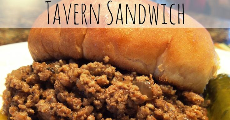 These Tavern Sandwiches (also called Loosemeat or Loose Meat Sandwiches) are seasoned ground beef and onions served on toasted buns.