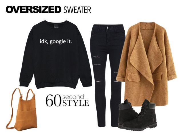 U0026quot;Oversized Sweater Styleu0026quot; by itsgirliecici liked on Polyvore featuring Le Donne and Timberland ...
