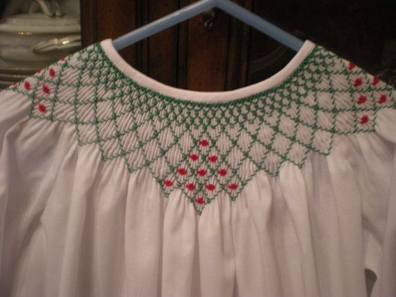 Smocked Christmas dress size 2 ready to ship by SmockedBeauties, $55.00