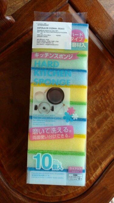 Esponjas de cozinha da Daiso Japan!