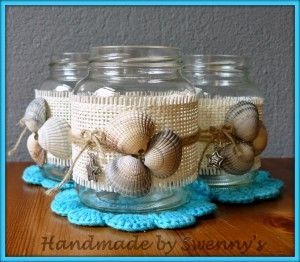 Potjes gemaakt met geraapte schelpen van Texel.