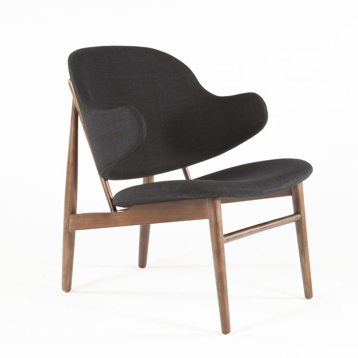 Ib Kofod Larsen Danish Shell Chair   Black Mid Century Modern Lounge Chair  http. 204 best Mid Century Furniture images on Pinterest