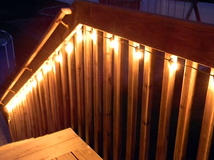 17 Best ideas about Deck Lighting on Pinterest Backyard lights diy, Patio lighting and Outdoor ...