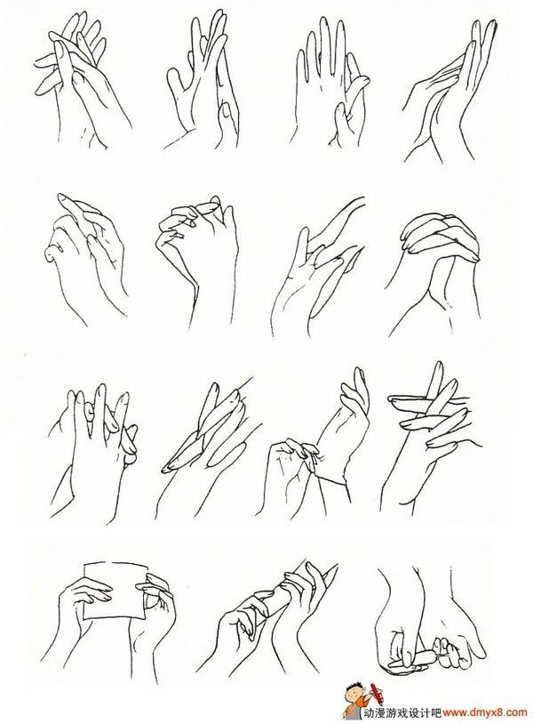 Hands ✤ || CHARACTER DESIGN REFERENCES | キャラクターデザイン •