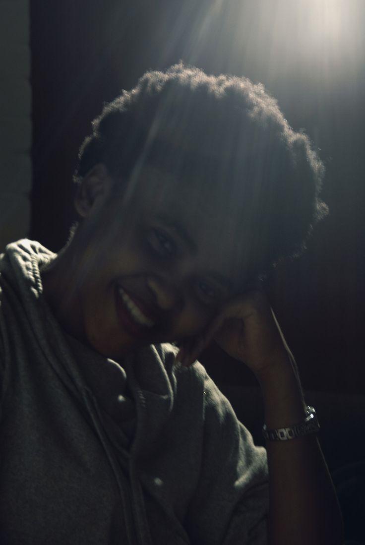 Under the light.