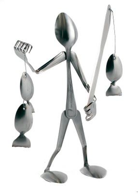 Spoons can be used to form bodies of structures. In my art, the spoons can be used to form a similar structure to make it sturdy.