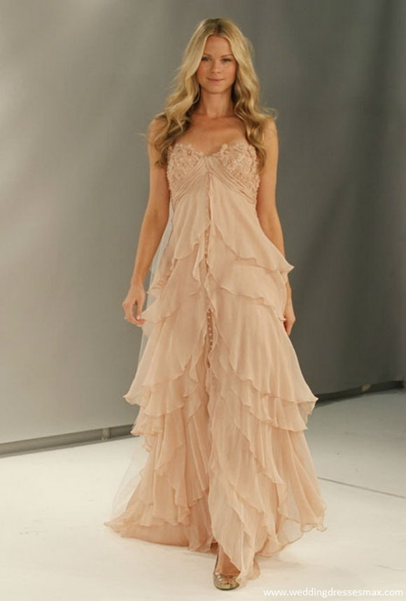 Image detail for -Watters Fall 2012 Brown Wedding Dress   Wedding Dresses Max