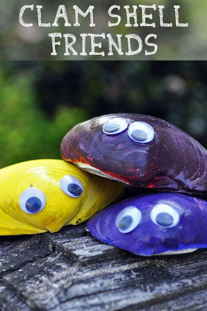 Diese entzückenden Muschelschalenfreunde sind eines unserer Lieblingshandwerke im Sommer. Wir … – Kidcraft