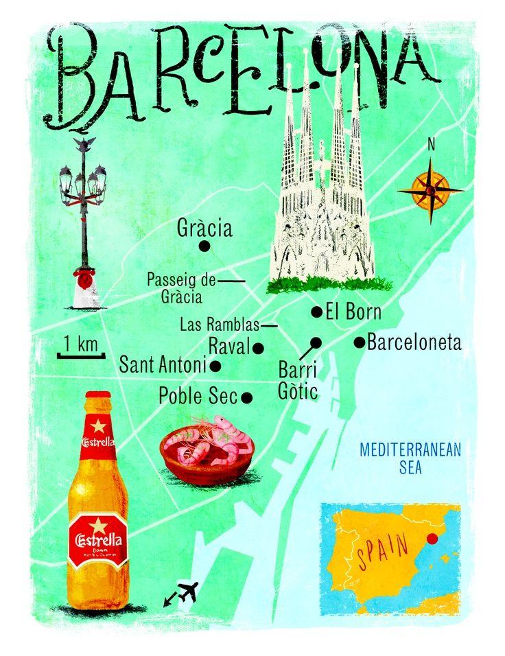 Barcelona map by Scott Jessop. Sunday Times Travel