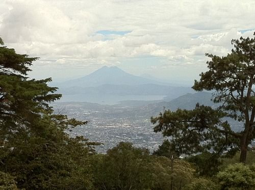 Photo of Lake Ilopango & Volcano Chinchontepec from El Boqueron,  El Salvador | suchitoto.tours@gmail.com