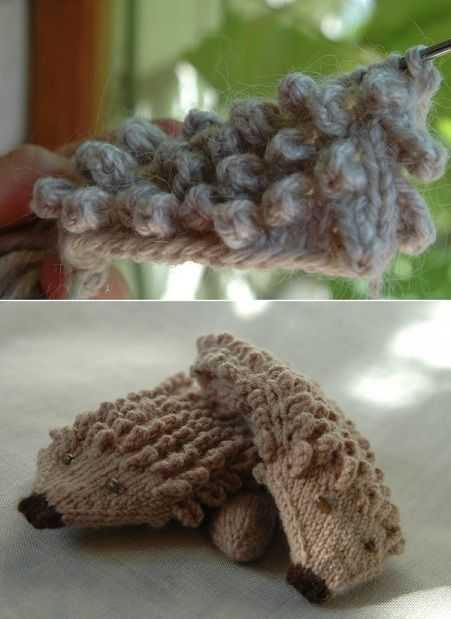 How to Knit Hedgehog Mittens - DIY (9)