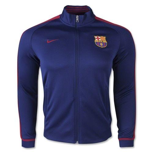 Nike Men's FC Barcelona N98 Jacket Loyal Blue/Storm Red/University Gold