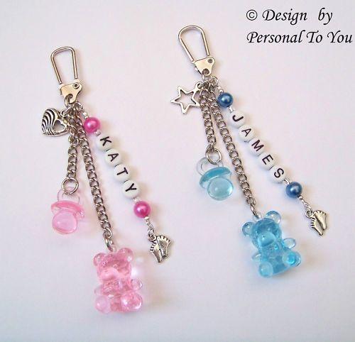 Personalised New Baby Gift ~ Pram/Changing Bag Charm in Baby, Baby Changing & Nappies, Nappy Changing Bags | eBay!
