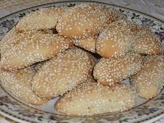 Authentic Greek Recipes: Greek Sesame Cookies