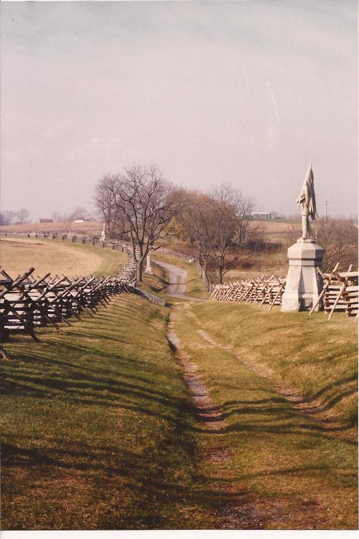 """The """"Bloody Lane"""" Antietam Battlefield, Sharpsburg, Maryland  When dawn broke along Antietam Creek on Sept. 17, 1862, cannon volleys launched a Civil War battle that would leave 23,000 casualties on the single bloodiest day in U.S. history."""