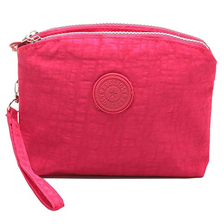 liangdongshop Leisure Solid Nylon Double Layer Wristlets Clutches Cell Phone Bag Shoulder Shopping Bag