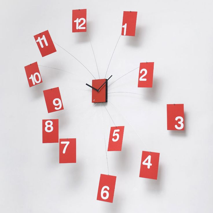 Orologio Il TempoVola rosso | Progetti | Stilcasa.Net: orologi da parete