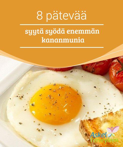 8 pätevää syytä syödä enemmän kananmunia   Loistava tapa lisätä puhtia päivään on nauttia kananmunia aamiaisella. Kananmunat ovat erinomainen proteiinin ja #ravintoaineiden lähde, mutta tästä huolimatta monet yrittävät vältellä #kananmunien syömistä, sillä he kuvittelevat niiden nostavan #kolesterolia ja vaikuttavan negatiivisesti terveyteen pitkällä aikavälillä.   #Terveellisetelämäntavat